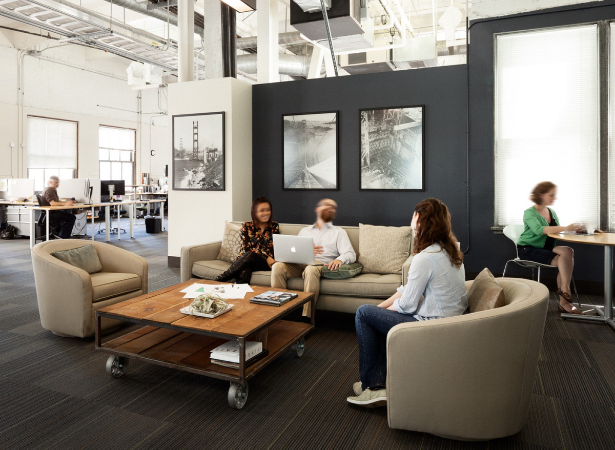 People using a breakout space