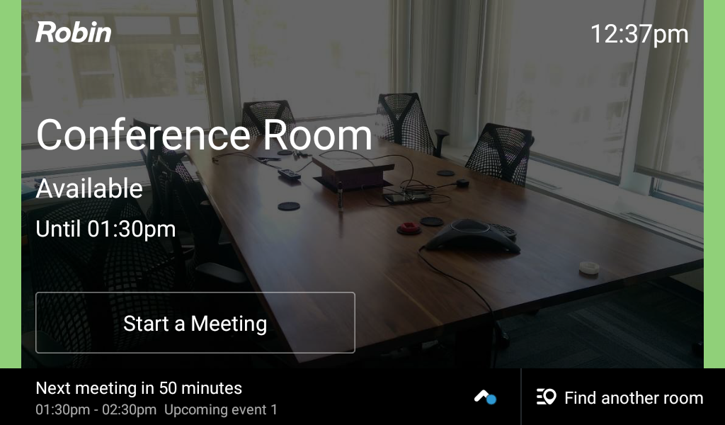 Available conference room on Kindle Fire