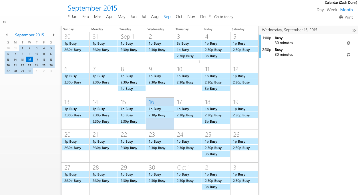 How to use Office 365 shared calendar outside your organization - Robin