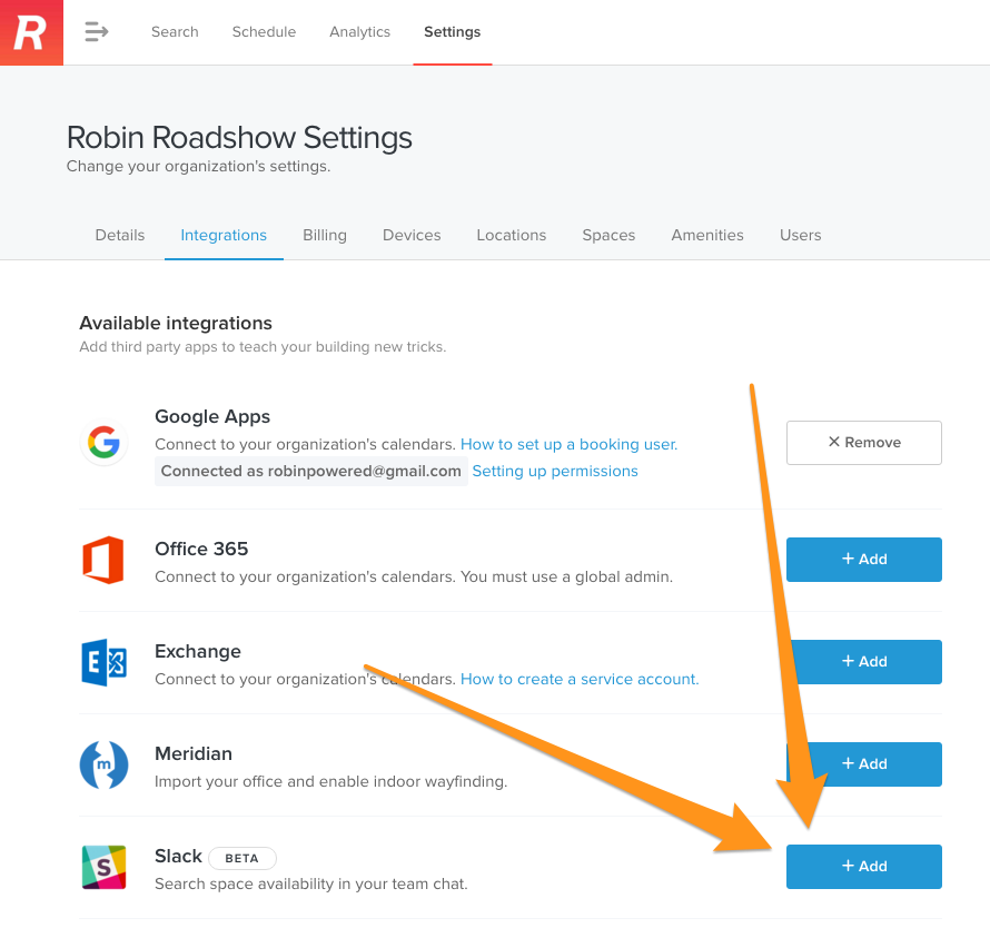 Install Robin on your Slack team