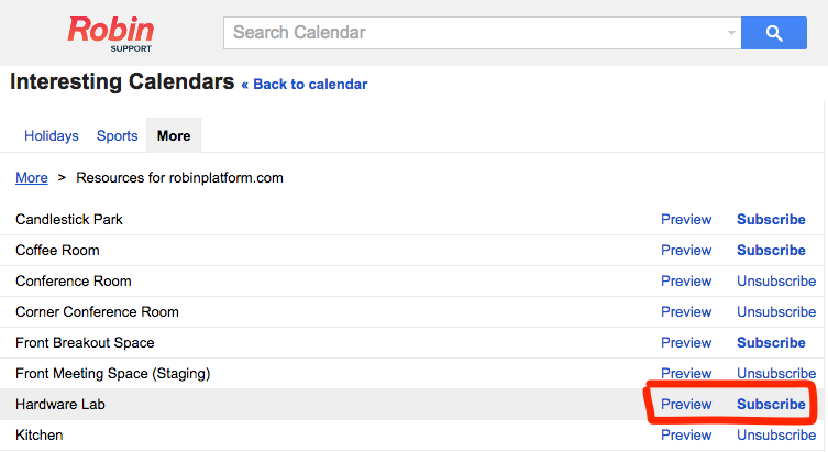 How to view resource calendar schedules in Google Calendar