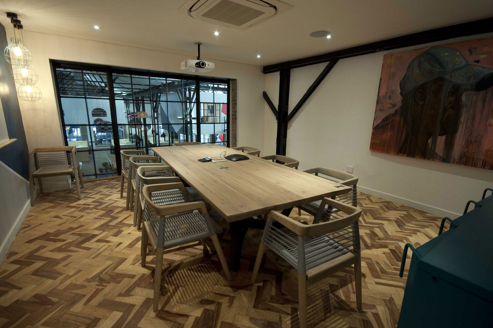 modern meeting rooms with exposed brick and wood robin rh robinpowered com