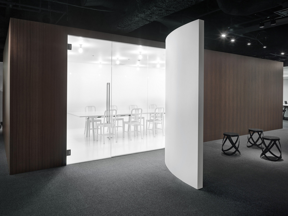 Pure white conference room walls